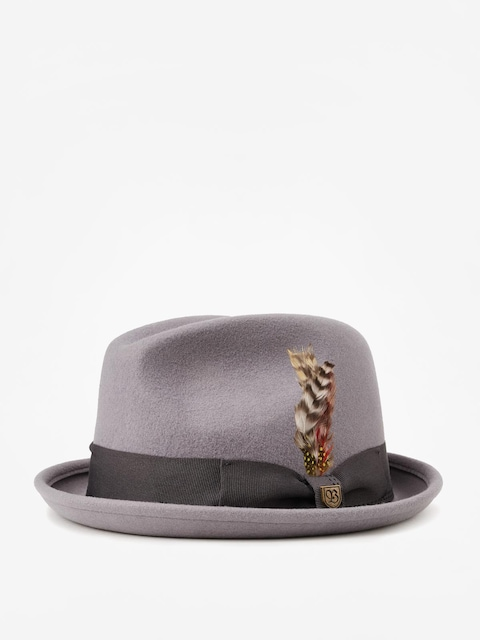 Klobouk Brixton Gain Fedora (light grey/charcoal)