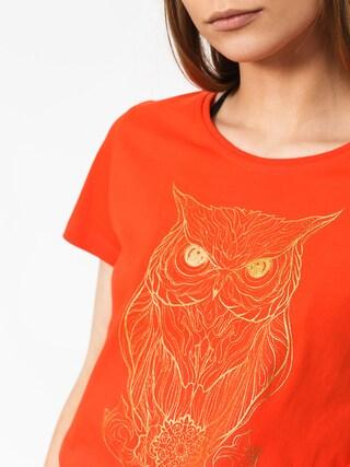 Tričko Majesty Owl Lady Wmn (orange)