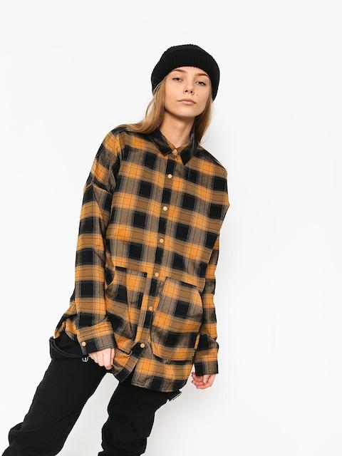 Košile Burton Teyla Flannel Wmn (camel muirwds pld)
