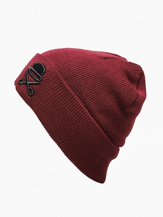 Čepice Cayler & Sons Old School Beanie (maroon/white)