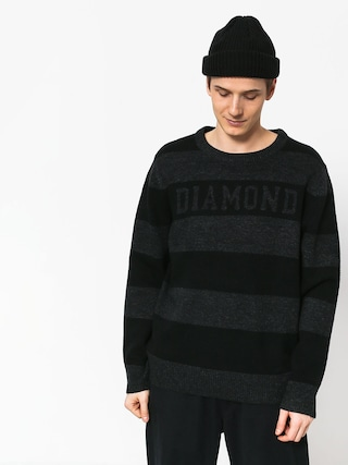 Svetr Diamond Supply Co. Striped Wool (black)