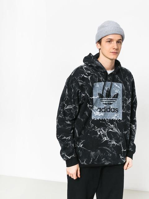 Mikina s kapucí adidas Mrble Aop HD (black/white)