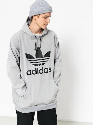 Mikina s kapucí adidas Team Tech HD (medium grey heather/black)