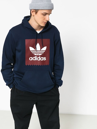 Mikina s kapucí adidas Solid BbHD (collegiate navy/collegiate burgundy/white)