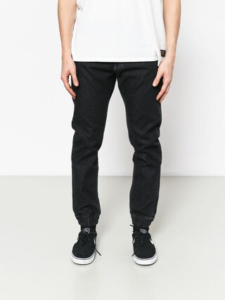 Kalhoty MassDnm Base Jogger Jeans Sneaker Fit (black rinse)