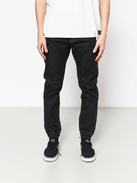 Kalhoty MassDnm Base Jogger Jeans Sneaker Fit (black rinse)