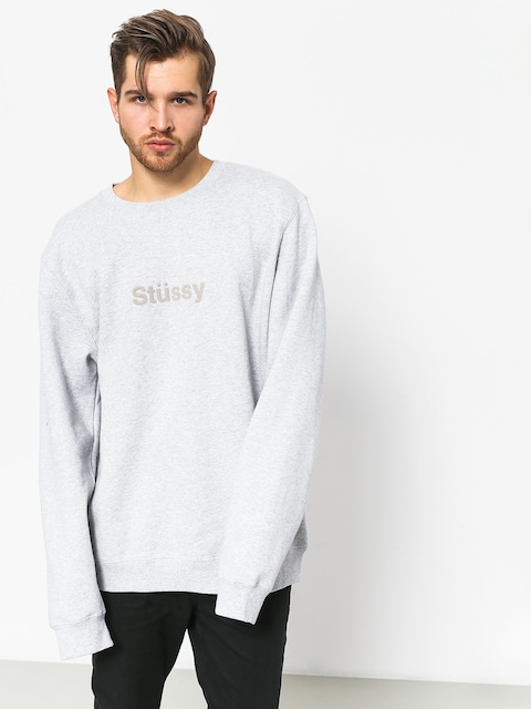 Mikina Stussy Weld App (grey heather)