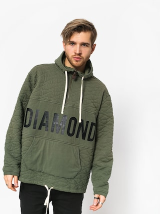 Mikina s kapucí Diamond Supply Co. Quilted HD (olive)