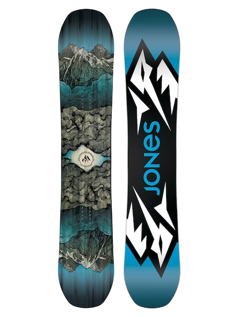 Snowboard Jones Snowboards Mountain Twin (blue/black/white)