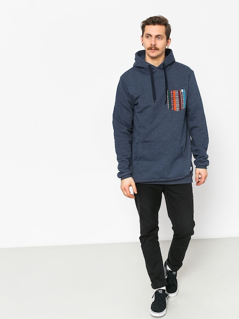 Mikina s kapucí Malita Hood Pocket HD (heather navy)
