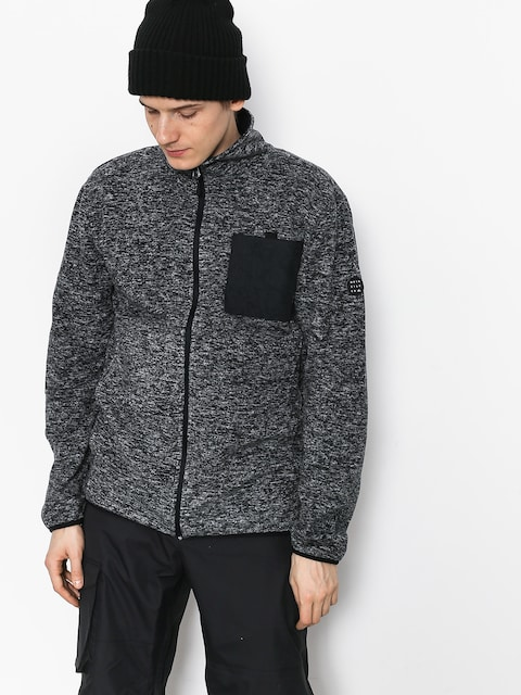 Fleecová mikina Quiksilver Bcutter (black heather)