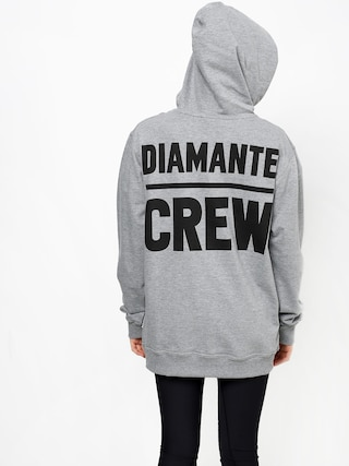Mikina s kapucí Diamante Wear Diamante Crew (grey melange)