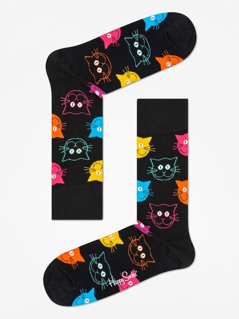 Ponožky Happy Socks Animal Cat (black/pink)