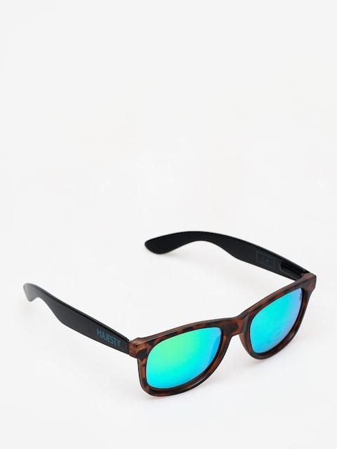 Sluneční brýle Majesty L (black/tortoise with green emerald lens)