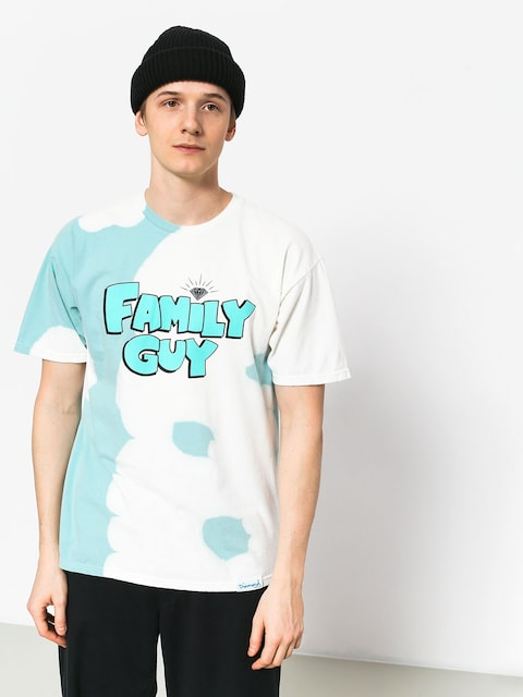 Tričko Diamond Supply Co. Family Guy Crystal Wash (diamond blue)