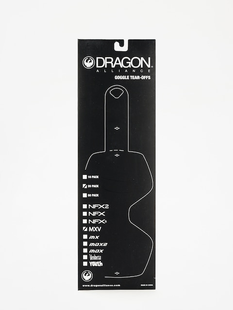 Příslušenství Dragon MXV (tear off 20 pack clear)