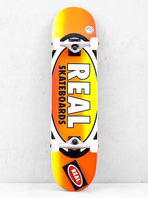 Skateboard Real Fades (orange/yellow)