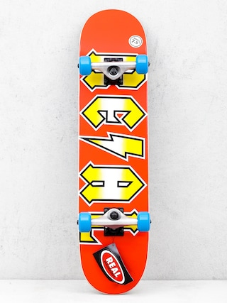 Skateboard Real Deeds Metallics (red/yellow)