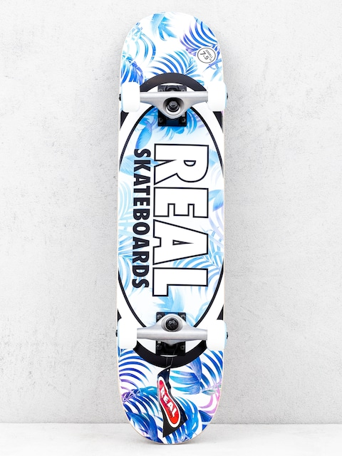 Skateboard Real Tropics (blue/white)