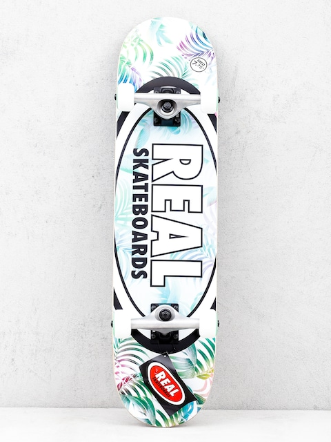 Skateboard Real Tropics (white/green)
