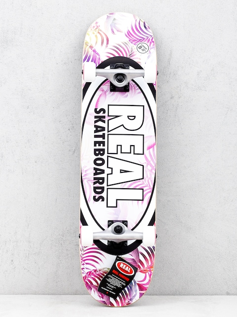 Skateboard Real Tropics (white/pink)