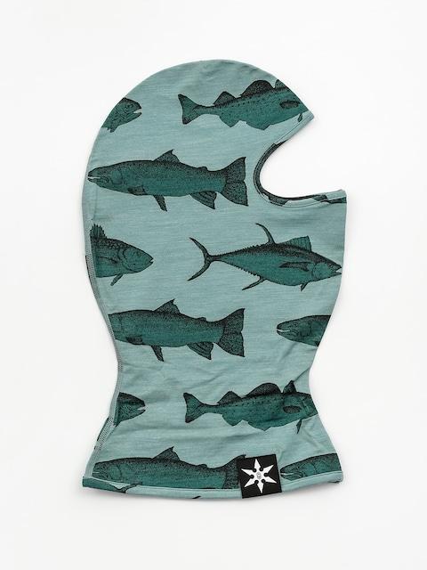 Šátek Airblaster Merino Ninja Face (mint fish print)