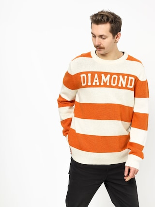 Svetr Diamond Supply Co. Striped Wool (orange)
