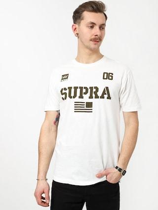 Tričko Supra Team Usa (white/dk olv)