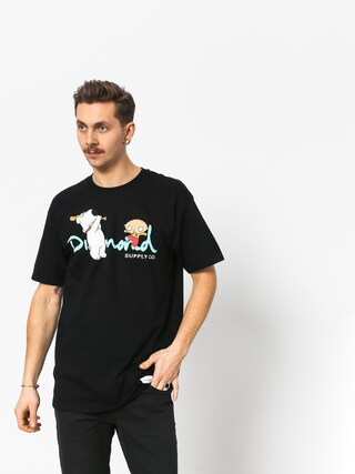 Tričko Diamond Supply Co. Family Guy Og Script (black)