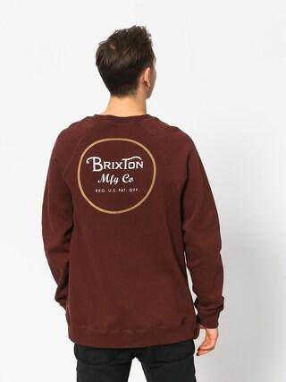 Mikina Brixton Wheeler Intl Crew (chestnut)