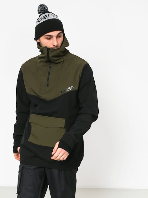 Snowboardová bunda Majesty Anorak (black/green)