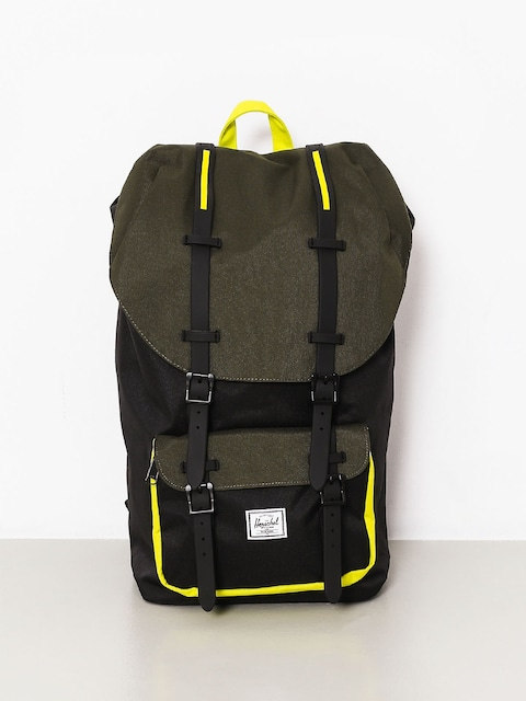 Batoh Herschel Supply Co. Little America (black/forest night/evening primrose)