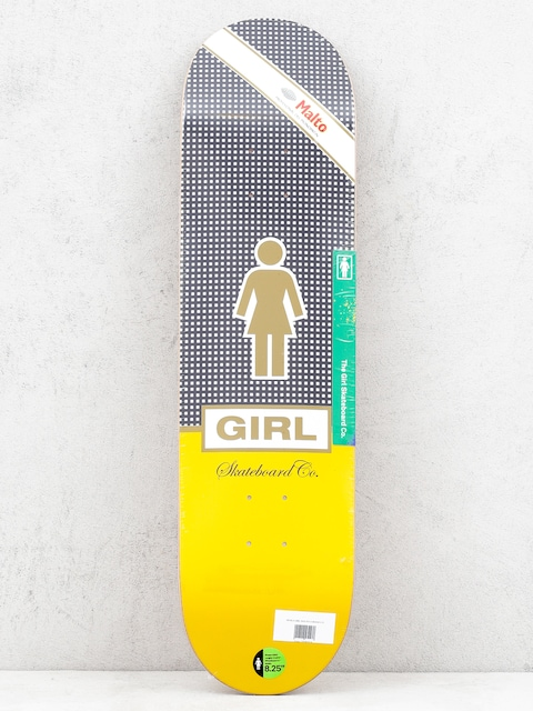 Deska Girl Skateboard Malto Cubano (black white/yellow)