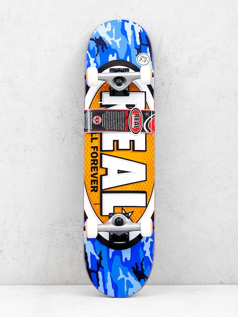 Skateboard Real New Awol Ovals Mini (blue camo/orange)