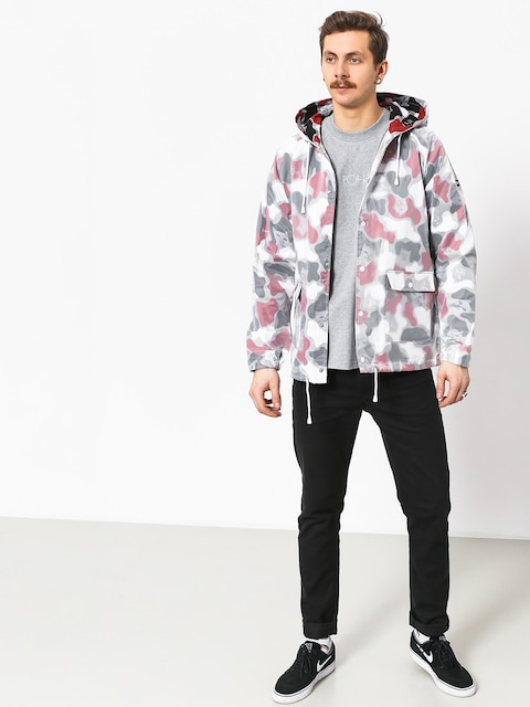 Bunda RipNDip Nerm Psycho Clear Rain Coat (red camo)