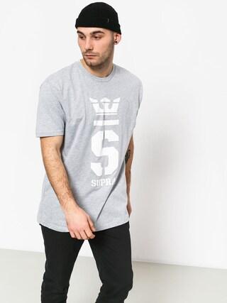 Tričko Supra Champ (grey heather/wht)