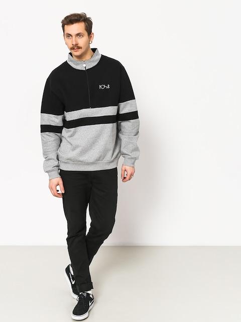 Mikina Polar Skate Block Zip (black/heather grey)