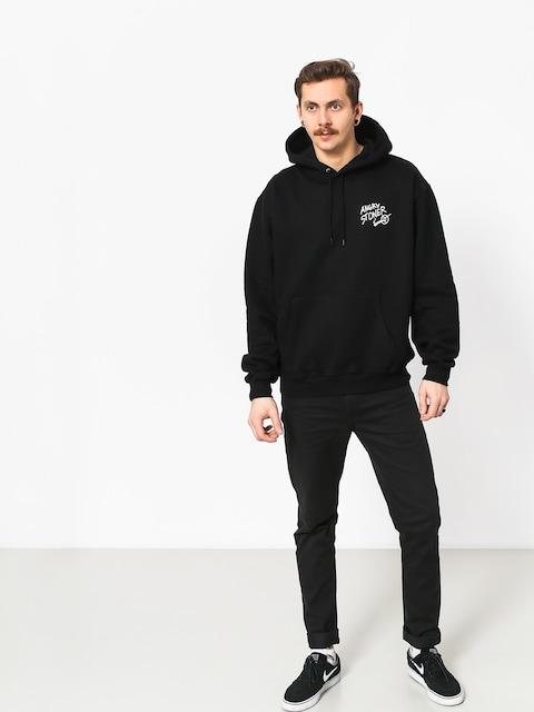 Mikina s kapucí Polar Skate Angry Stoner HD (black)