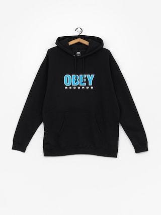 Mikina s kapucí OBEY Obey Records 2 HD (black)