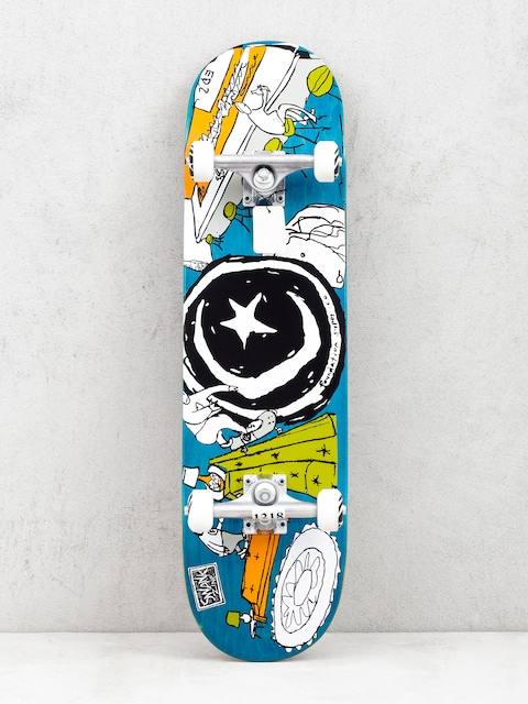 Skateboard Foundation Star And Moon At Home (sea green/multi)