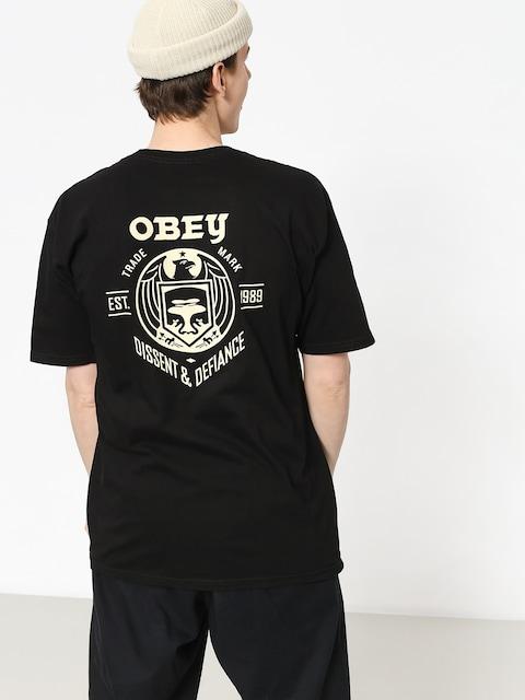 Tričko OBEY Obey Dissent & Defiance Eagle (black)