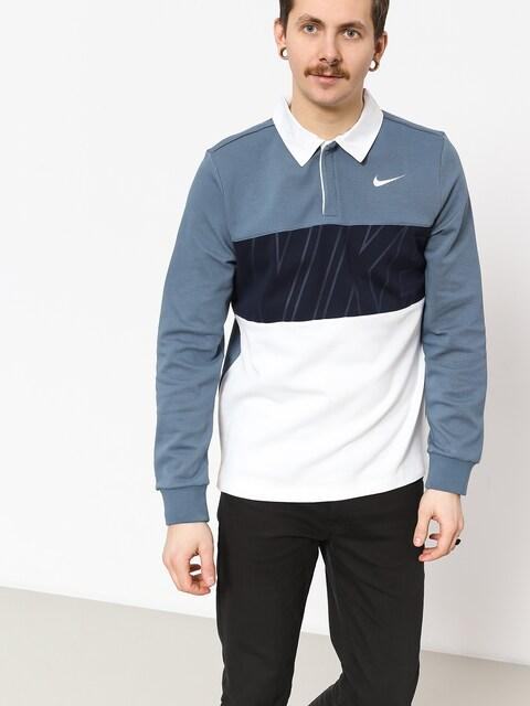 Polo tričko Nike SB Dry (thunderstorm/obsidian/white/white)
