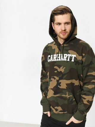 Mikina s kapucu00ed Carhartt WIP College HD (camo laurel/white)