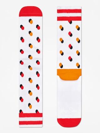 Ponožky Happy Socks Athletic Shadow Dot (white/orange/red)