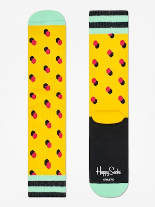 Ponožky Happy Socks Athletic Shadow Dot (yellow/mint/red)