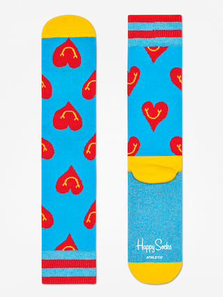 Ponožky Happy Socks Athletic Smiley Heart (blue/yellow/red)