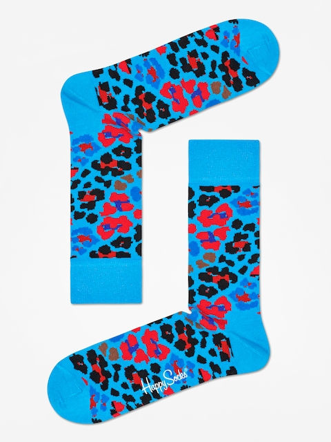 Ponožky Happy Socks Leopard (blue/red/black)