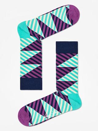 Ponožky Happy Socks Diagonal Stripe (mint/purple)