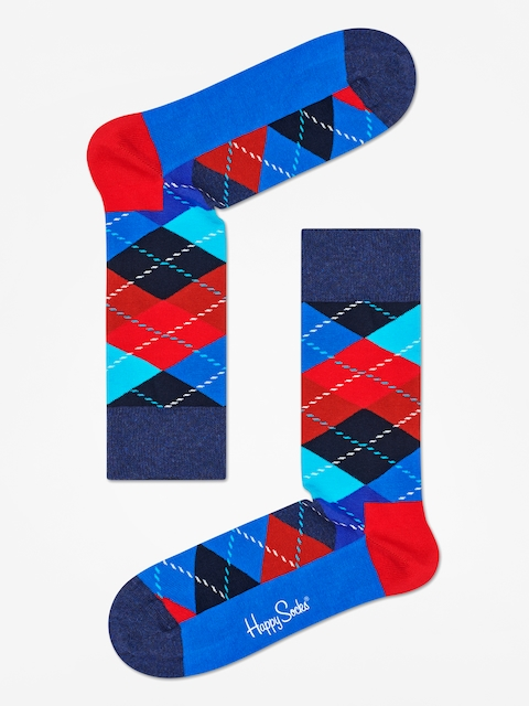 Ponožky Happy Socks Argyle (black/blue/red)