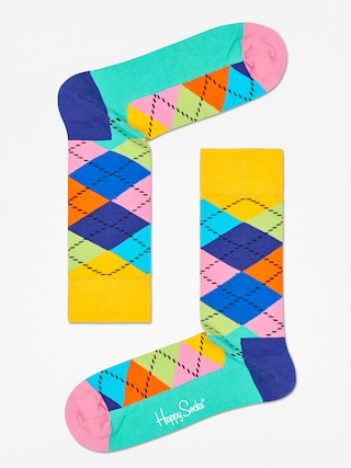 Ponou017eky Happy Socks Argyle (yellow/blue/green)